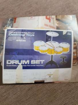 Drum set brand Desk top toys ages 3+, 10 piece set