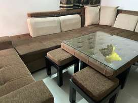 L shape sofa with coffee table cushions and couch