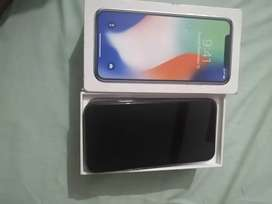 Iphone X (64) with box excellent condition