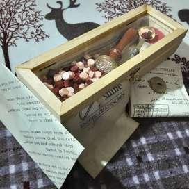 Paket! Hogwarts Castle Seal Wax Stempel Lilin + Kotak LENGKAP
