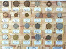 555 Rs only For all 24 Coins of British INDIA & Republic INDIA coins