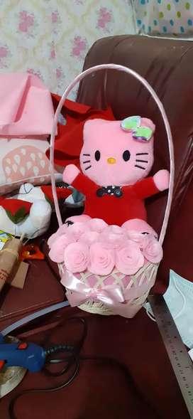 Keranjang boneka bunga