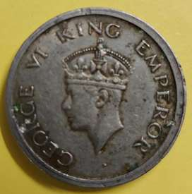 One Rupee Coin of 1947