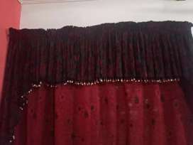 Curtain set for 2 doors or windows