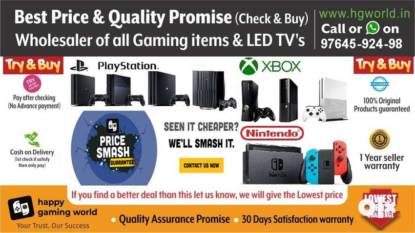 PS4,ps3,ps2,XBOX1/X/S/360,Switch,Vr All Gaming items&LED TVs Wholesale 0