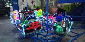 Kereta rell panggung lampu led odong odong UL