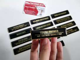 Name Tag Logam Lapis resin / Nama Dada / Papan Nama