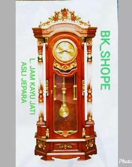 Lemari Jam Antik dan Cantik - dr bhn kayu Jati Asli Jepara
