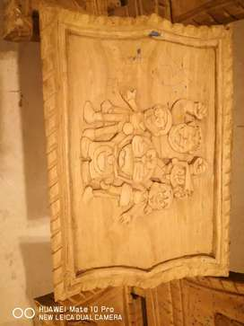 Carved wooden items