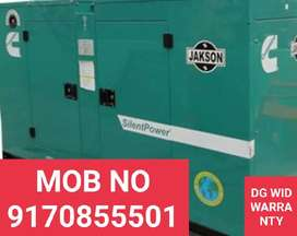 GENERATOR WITH 5 YEARS WARRANTY N FREE DELIVERY AND LOW NOISE LEVEL