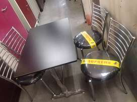 All New Restaurant  Chairs Black  Cushion  And Tables in Fresh