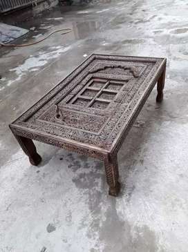 New table of handcarving