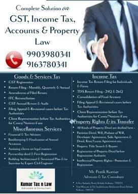 COMPLETE SOLUTION ON INCOME TAX, GST, ACCOUNTS AND PROPERTY LAW