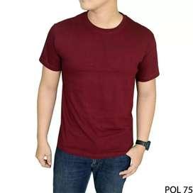 Kaos Oblong~Polos. Cotton Combed 30s 100% Premium Soft Adem