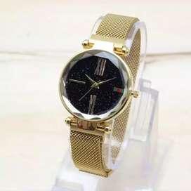 Arloji wanita elegan gelang magnet