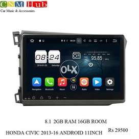 Honda Civic 2013-16 Android Navigation Panel