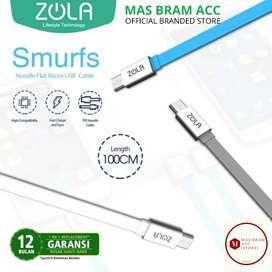 [GARANSI 12 BULAN] Kabel Cas Data ZOLA Micro USB 2,4A Quick Charge 1m