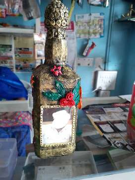 Bottle art and dreamcatcher