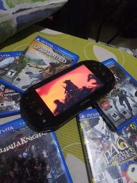 Ps Vita + 5 Game Cartridge + 2 Game Download PS Network
