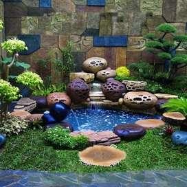 Jasa pembuatan kolam rellif batu cadas motif batu alam
