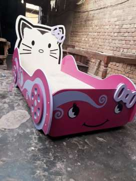 Beautiful kitty car bed for kids