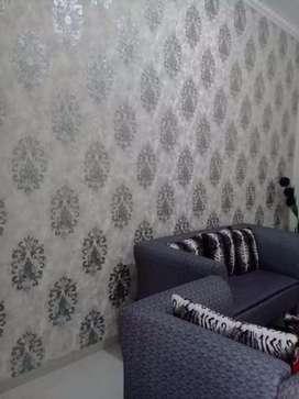 Wallpaper bahan vynil 3D timbul