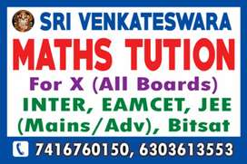 Maths Tutions available for inter and jee mains