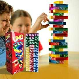 Permainan Edukasi Susun Balok Tower Uno Stacko