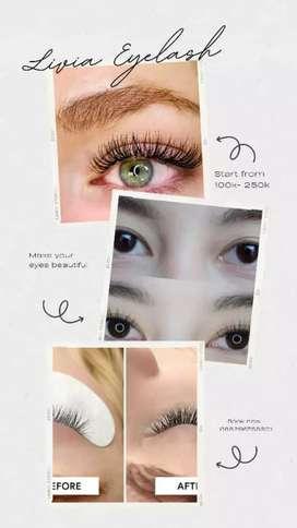 Makeup dan eyelash extension home service