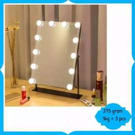Lampu make up kaca 10 led terang tempel kaca usb power iw1