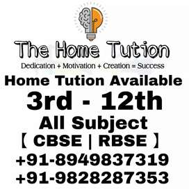 Home tuition available 3rd to 12th