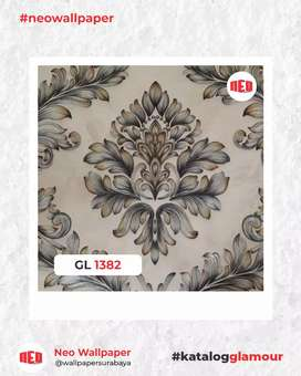 Promo Wallpaper dinding motif timbul dan jasa pemasangan murah