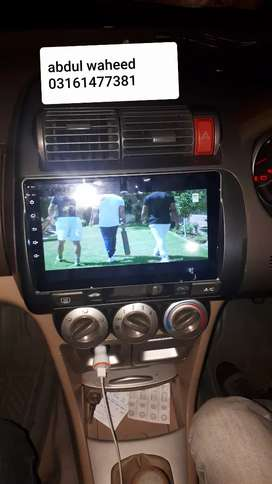 Honda City2003to2007Android pinal with camera k sat free installation