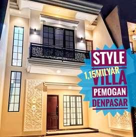 Rumah Style Villa Mekar Pemogan Isi Kolam Renang Denpasar Selatan Bali