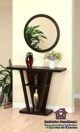 Elegant Console table with Mirror Frame