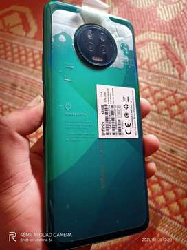 Infinix note 7 .6/128  with complete box and remaining warranty 10 mon