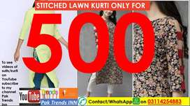 Kurti , 3 Piece unstitched & Branded Shits (100% Branded guaranteed)