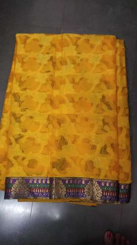 New Yellow Saree with blouse