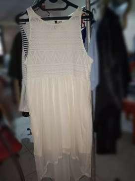 H&M Dress white size 40 setara L .