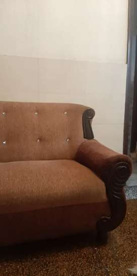 Two sofas brown colour