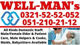 WELL-MAN's Reliable/Trustworthy Domestic Services: Maid,Cook & Helpers