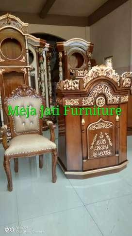 Mimbar masjid R65 kayu jati Tpk