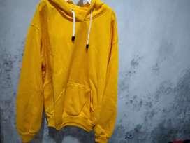 Jaket Hoodie kuning keren
