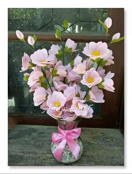 Vas Bunga Cherry Blossom