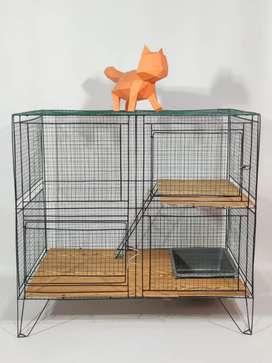Kandang kucing murah, kelinci, tupai dll Tingkat 2 dan 3 / Harga murah