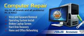 Computer and laptop repair service (home service also available,).