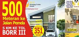 Dijual rumah murah KPR tanpa Bank deket Jalan Pemda Cibinong