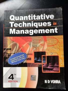 Quantitative techniques in managment