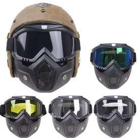 TaffSPORT BOLLFO Kacamata Goggles Mask Motor Retro Windproof