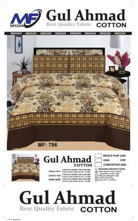 3 Pice Cotton Bed Sheets